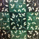 X13-Shaw Area Rug Leaf Swirl