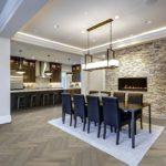 Modern open floor plan dining room design