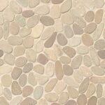 Bedrosians Tile Hemisphere Unglazed Sliced Pebble Mosaic in Antigua