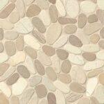 Bedrosians Tile Hemisphere Unglazed Sliced Pebble Mosaic in Balboa