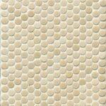 Bedrosians Tile Penny Round Matte Mosaic Tile in Beige