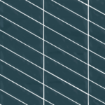 Bedrosians Tile Right Chevron Glossy Ceramic Wall Tile - Azzuro